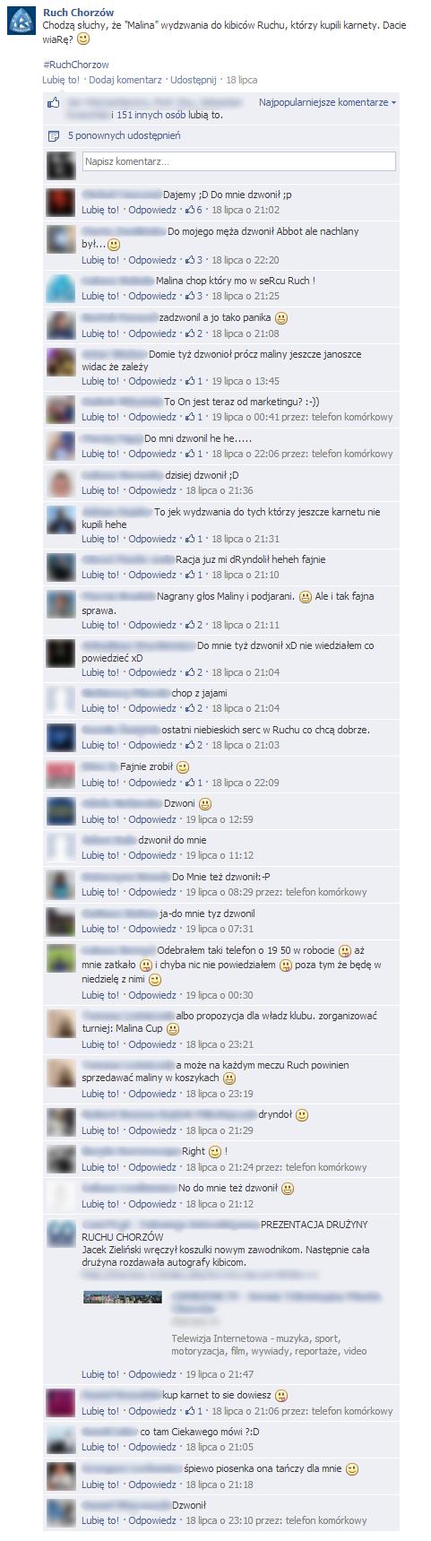 Ruch Chorzów na FB