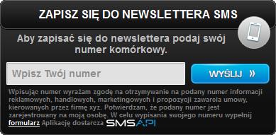 Widget Newsletter SMS