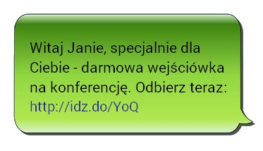 SMS Skrócony Link Idz.do