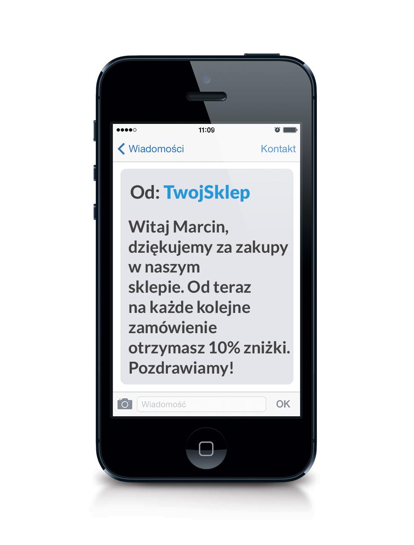 Przykład personalizowanej treści SMS