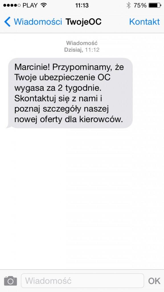 sms ubezpieczenia 2