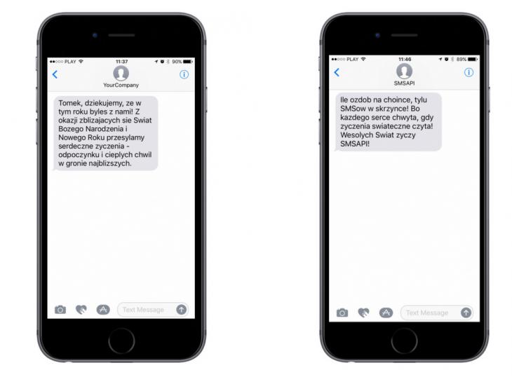 SMSAPI SMS z życzeniami na Boże Narodzenie i Nowy Rok