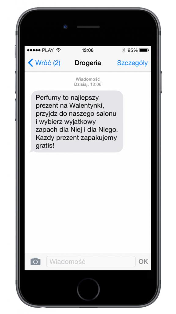 SMSAPI Walentynki Marketing SMS Promocja Drogeria Konwersja