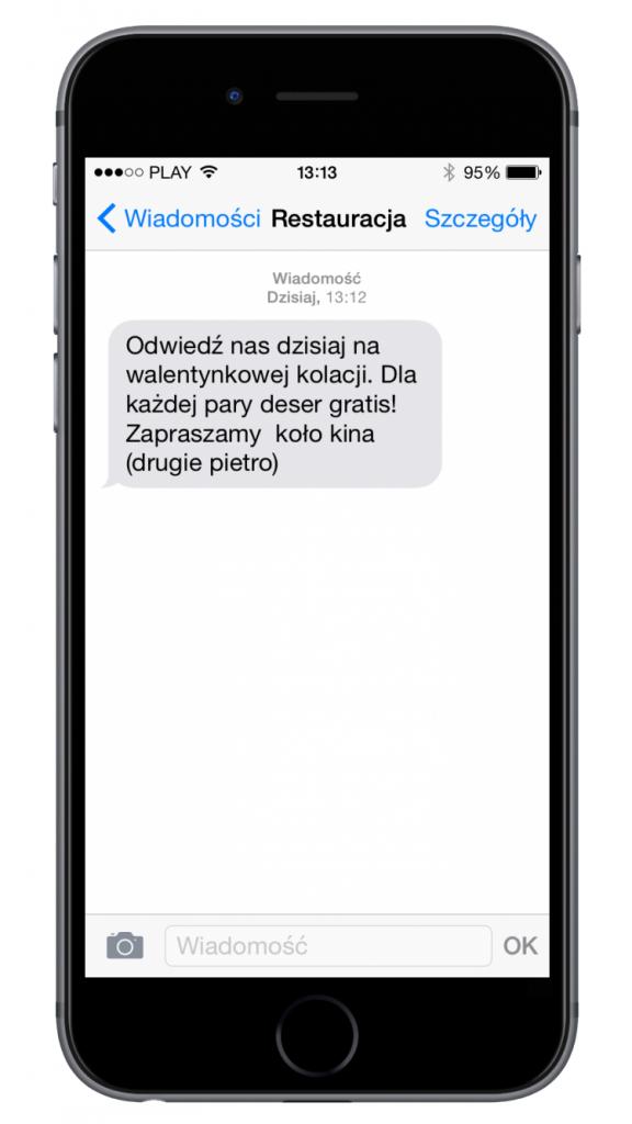 SMSAPI Walentynki SMS Promocja Restauracja