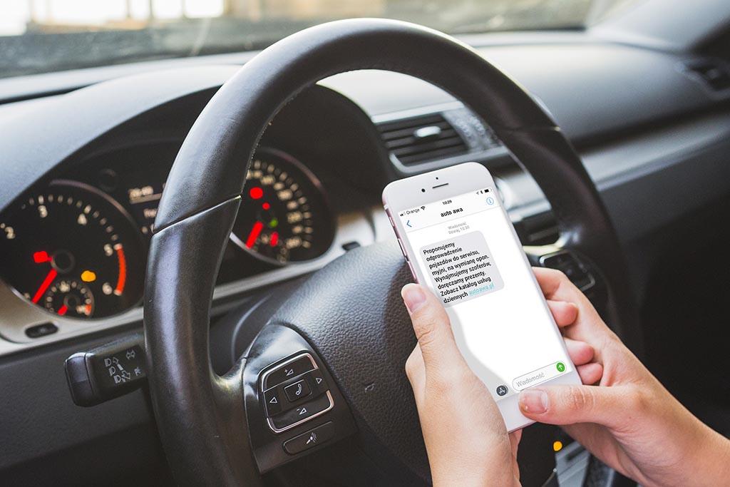 Serwis samochodowy SMS promocja