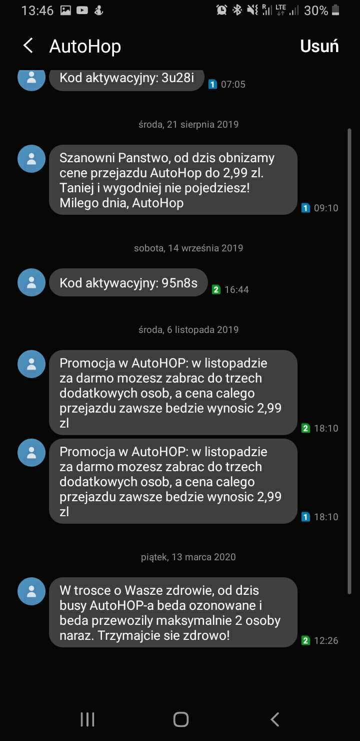 SMSAPI AutoHop SMS