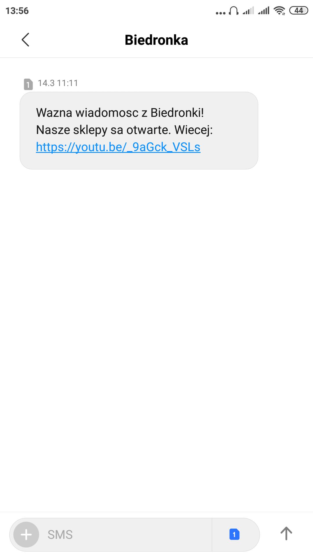 SMSAPI Biedronka SMS
