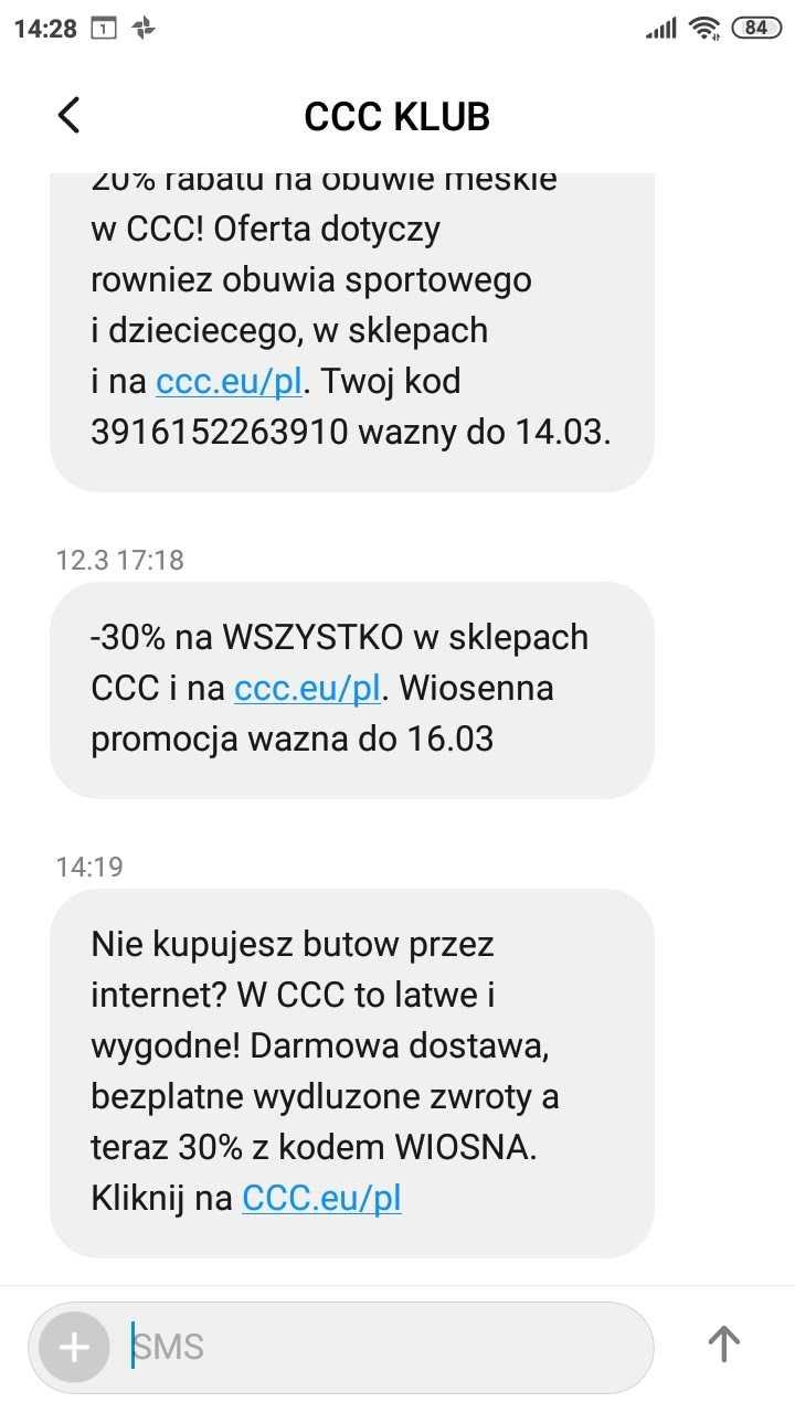 SMSAPI CCC SMS