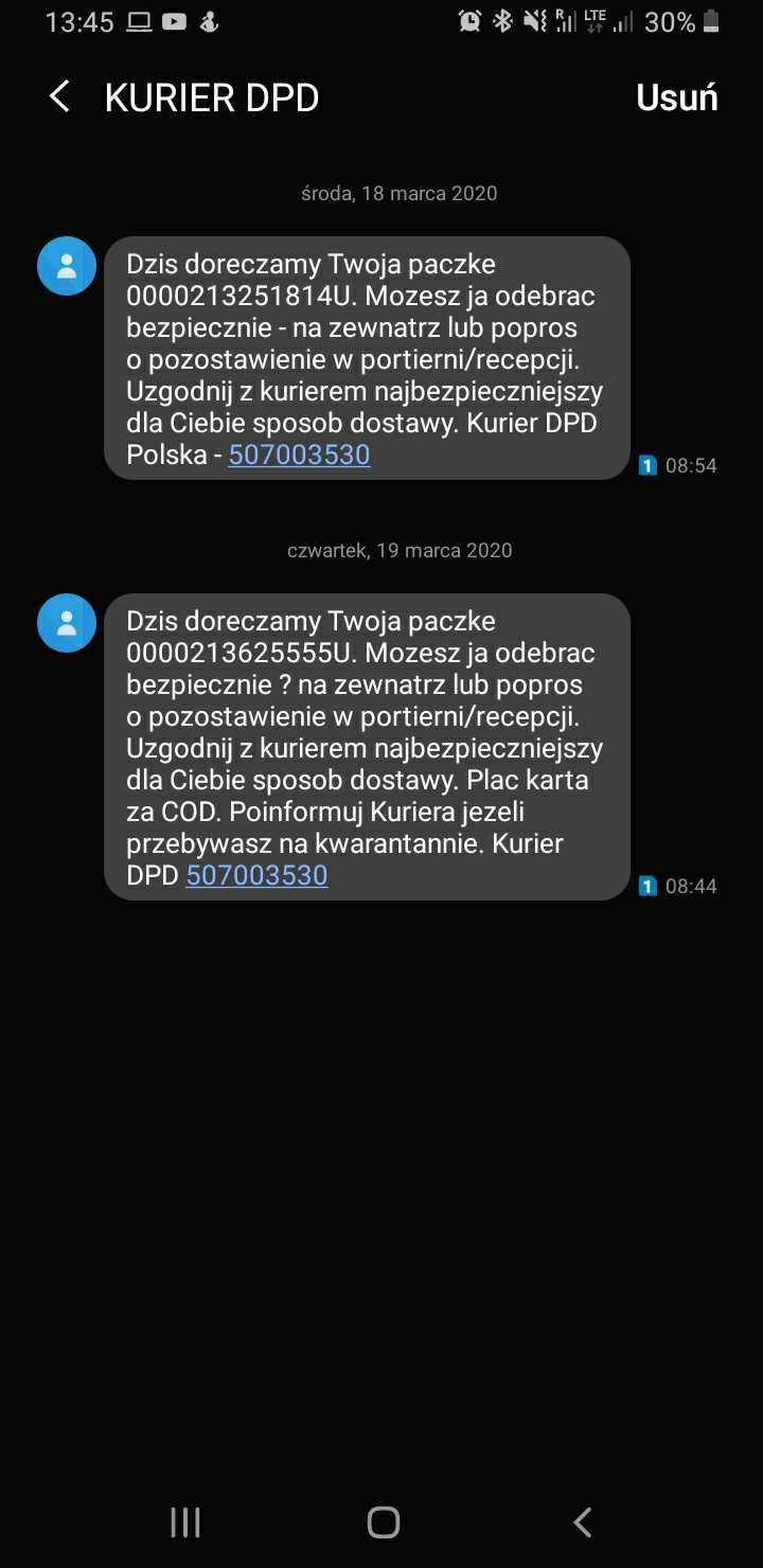 SMSAPI DPD SMS Kurier