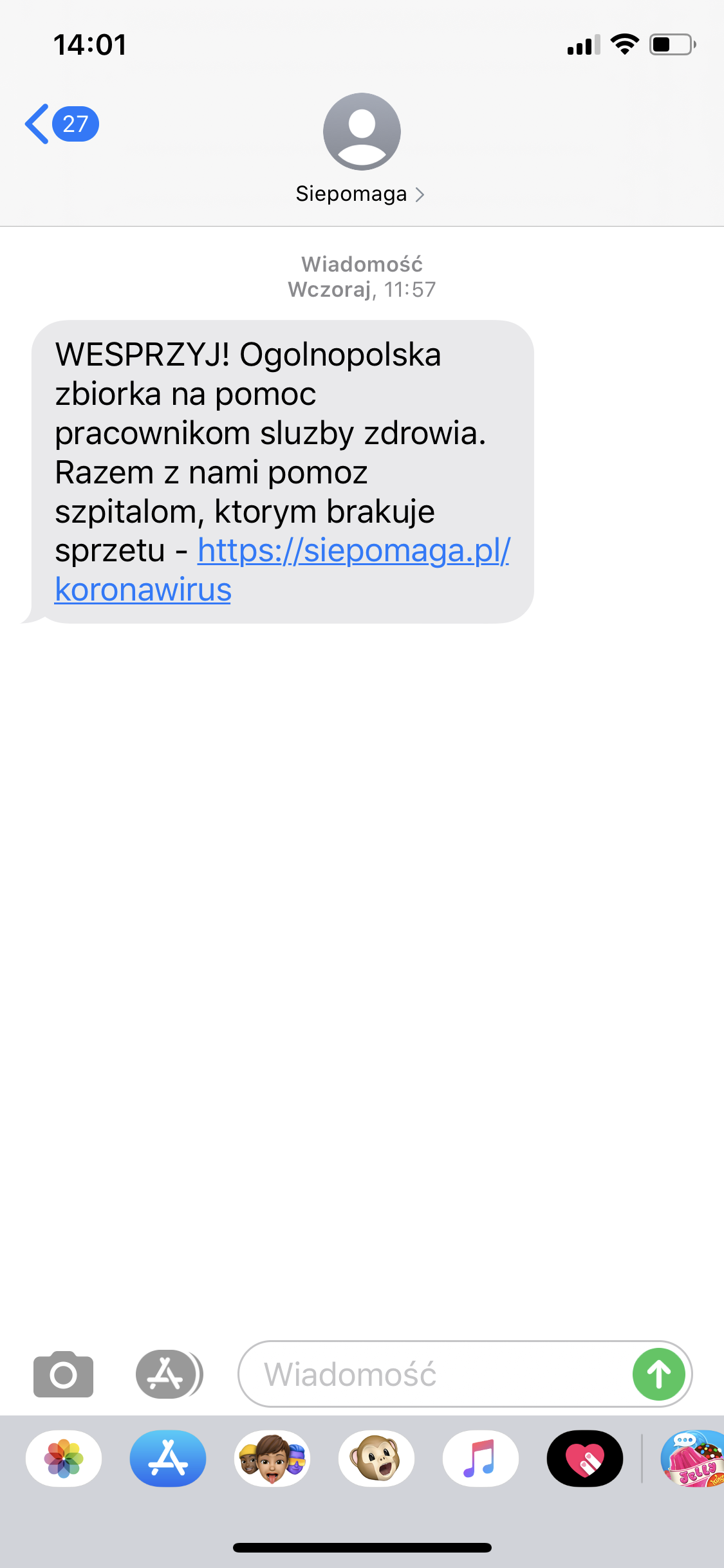 SMSAPI Siepomaga SMS
