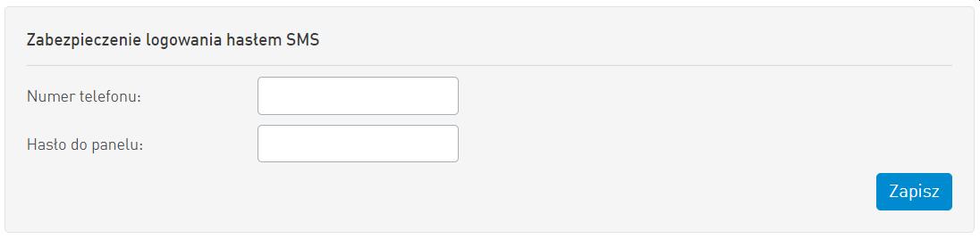 Zabezpieczenie Logowania Haslem SMS
