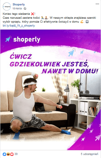 Post z kampanii Shoperly