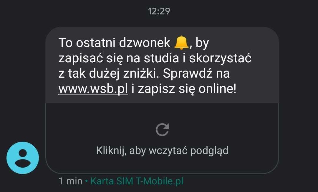Wiadomość SMS z emoji
