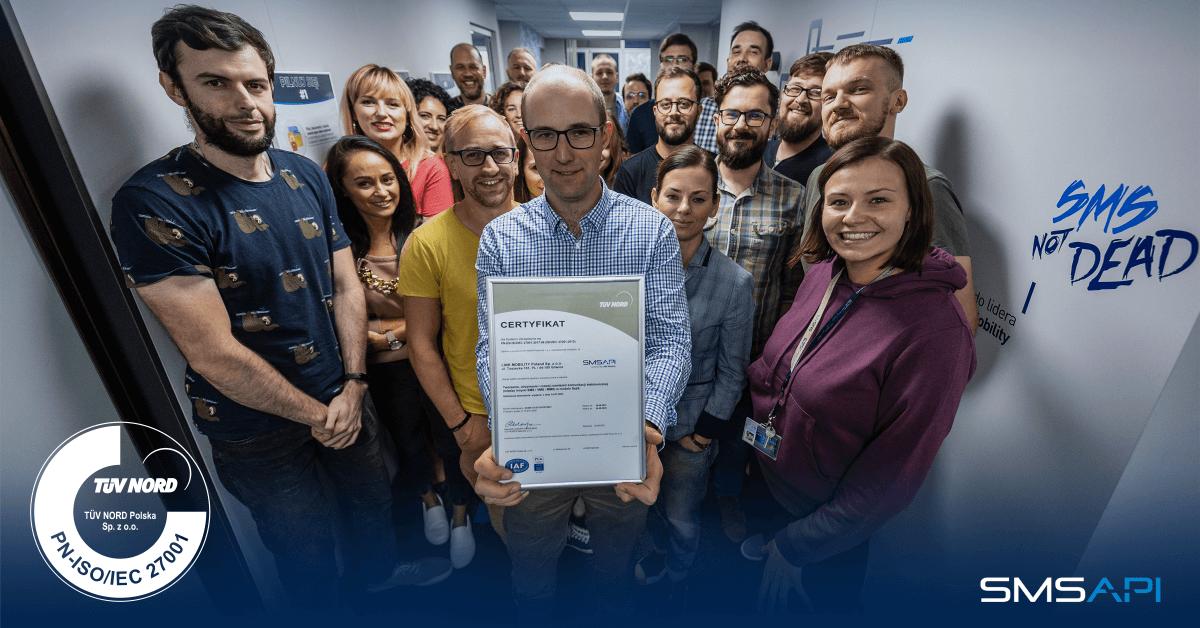 Zespół SMSAPI i certyfikat ISO 27001